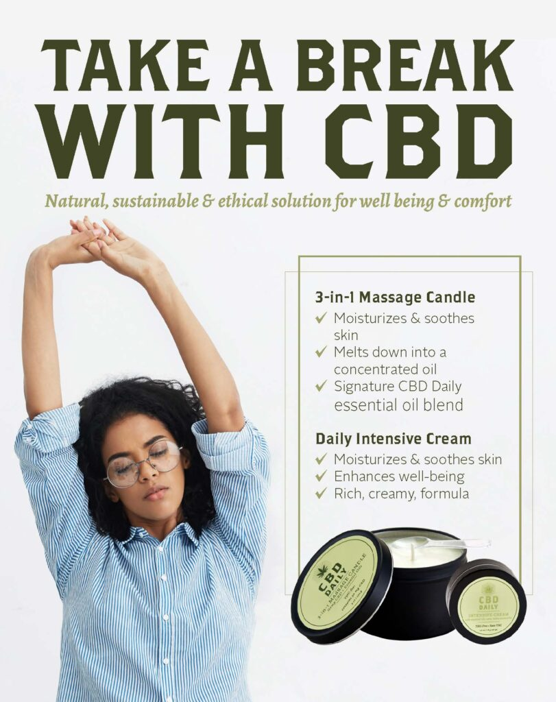 CBD Daily – CBD Massage Candle and Intensive Cream – Print 8×10