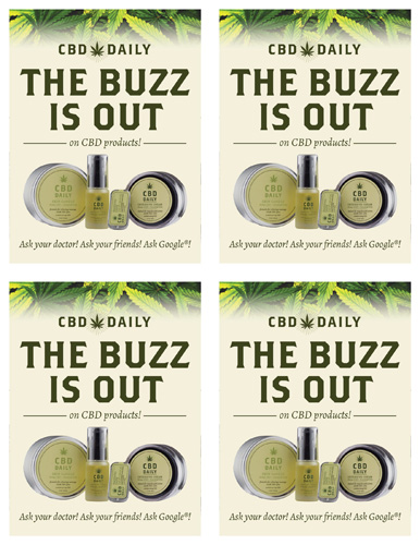 CBD Daily – The Buzz Is Out – Print 1/4 Page (Mirror Talker)