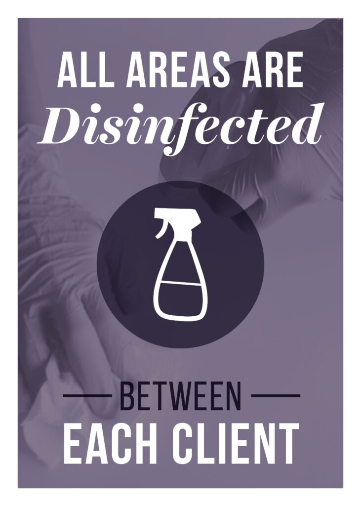 General – All Areas Disinfected – Print 5×7