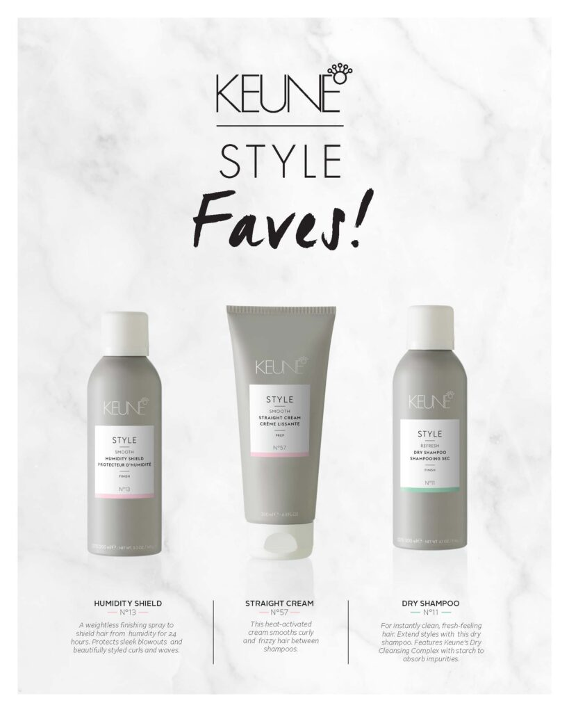 Keune – Style Faves – Print 8×10