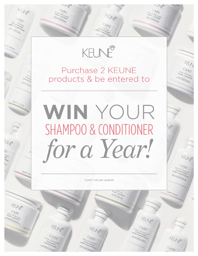Keune – Shampoo and Conditioner For a Year – Print 8.5×11