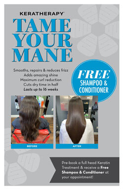 Keratherapy – Free Shampoo and Conditioner – Print 8.5×11