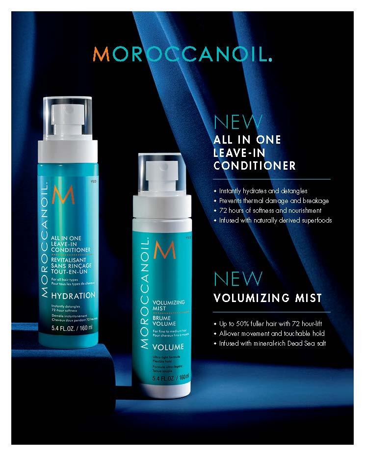 Moroccanoil – Leave In Conditioner and Volumizing Mist – Print 8×10