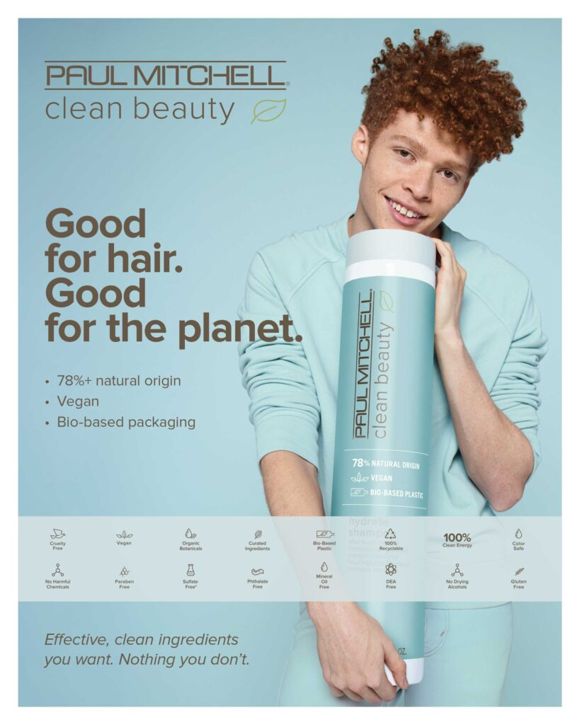 Paul Mitchell Clean Beauty – Good for hair. Good for the planet. – Print 8×10″