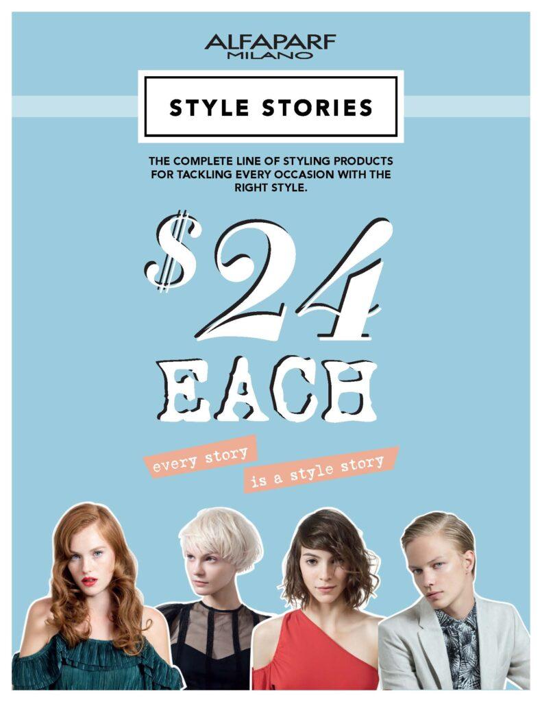 Alfaparf Style Stories – Retail Price List