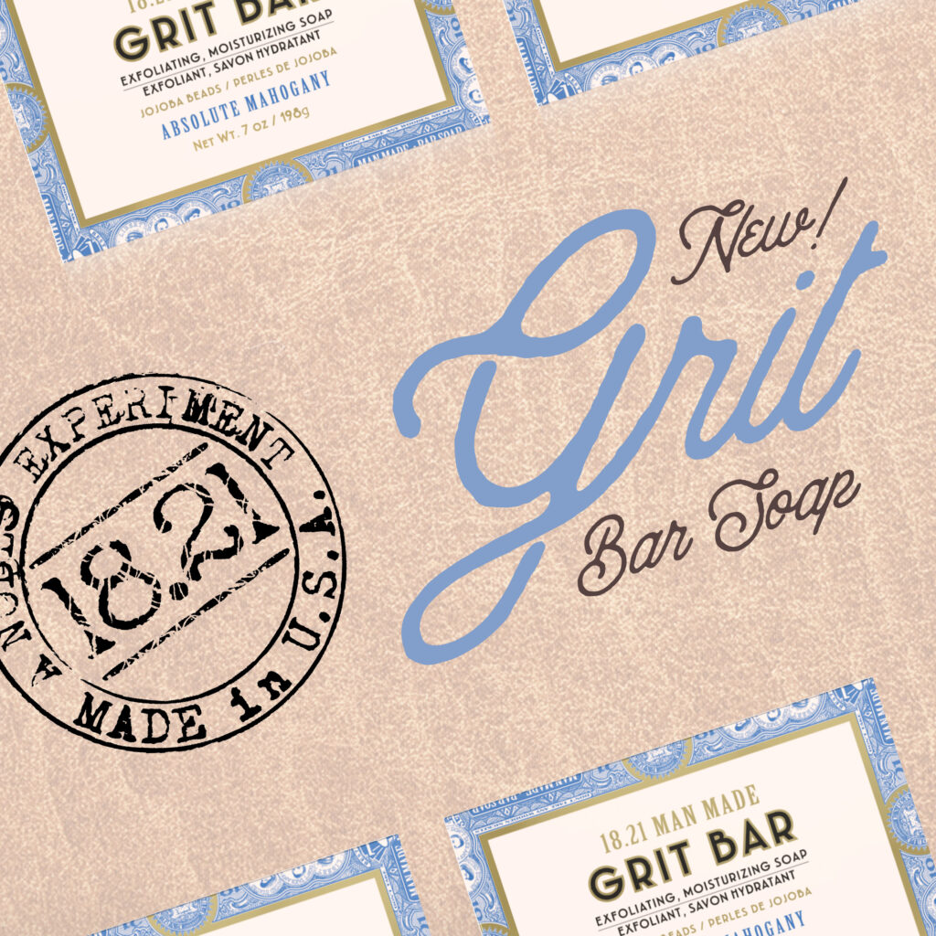 18.21 Man Made – NEW Grit Bar Soap – Social