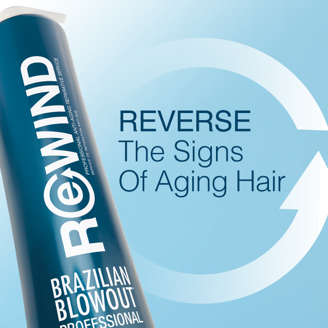 Brazilian Blowout – Rewind Revers Signs of Aging Hair – Social