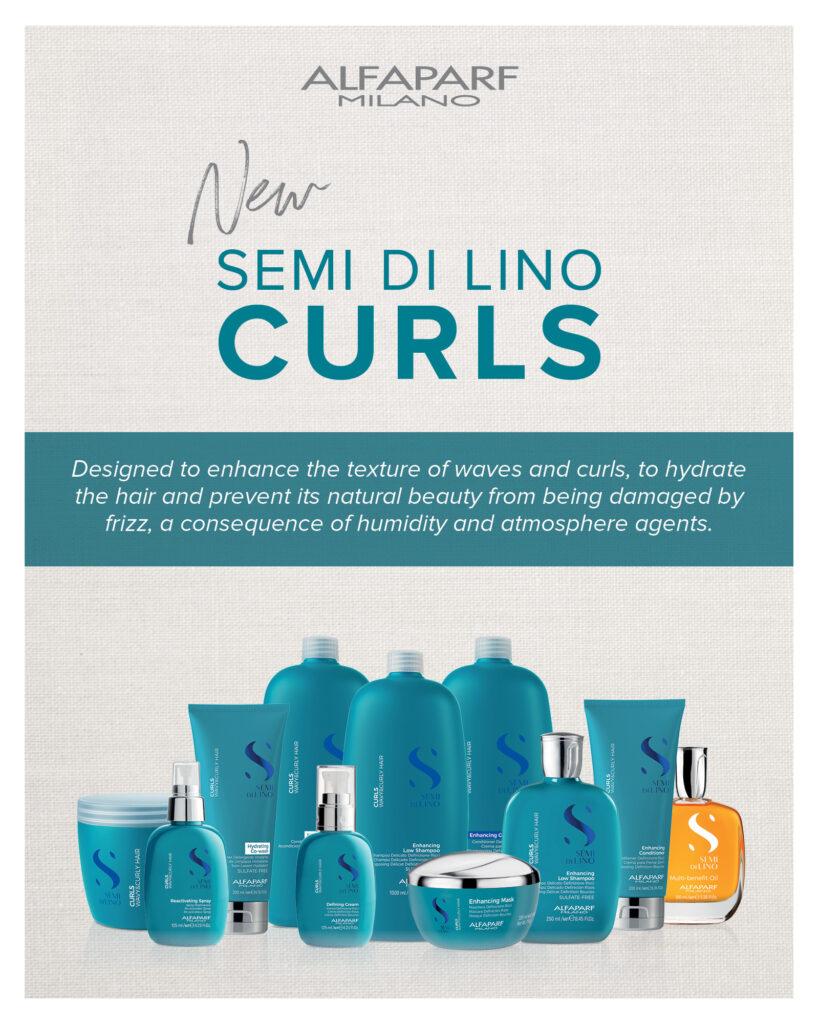 Alfaparf Semi di Lino – NEW Curls Collection – Print 8×10