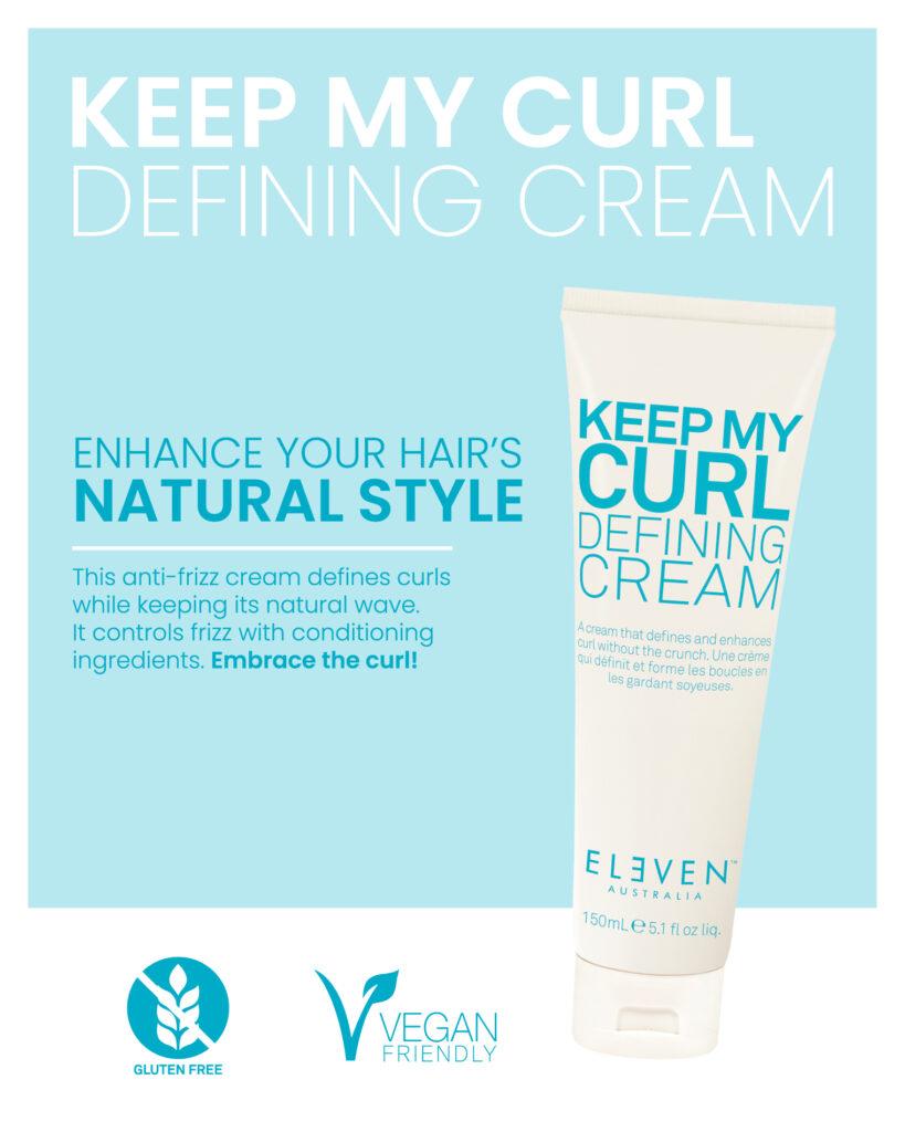 Eleven – Keep My Curl Defining Cream – Print 8×10