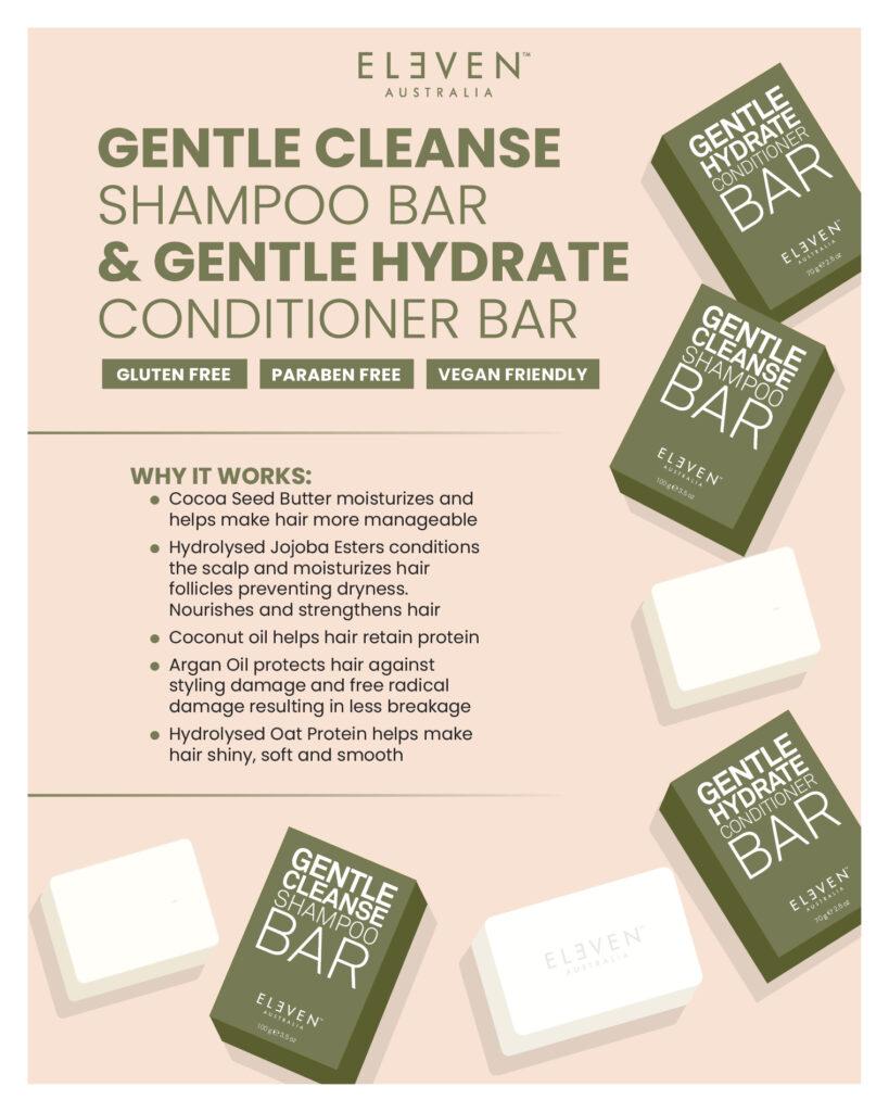 Eleven – Gentle Shampoo & Conditioner Bars – Print 8×10