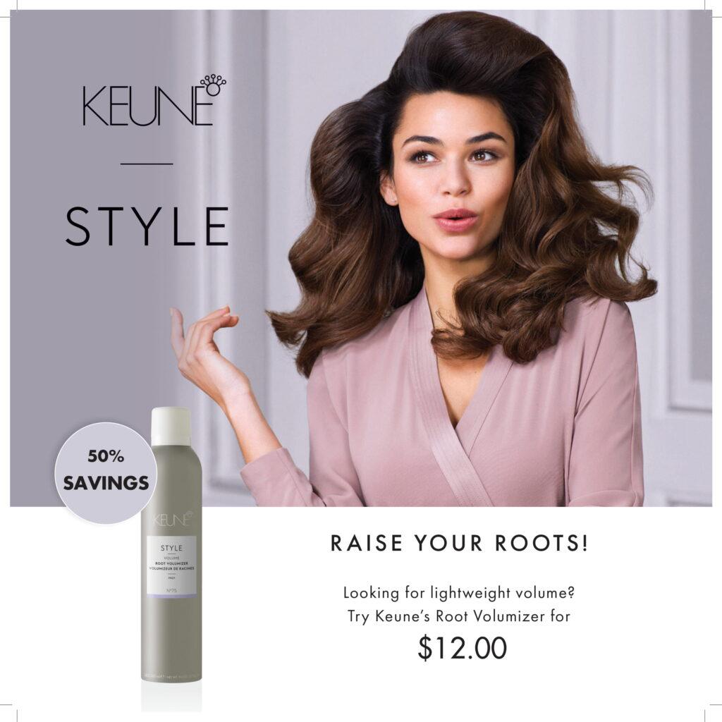 Keune Style – Editable Price Root Volumizer – Printable Universal Display 11.75×11.75