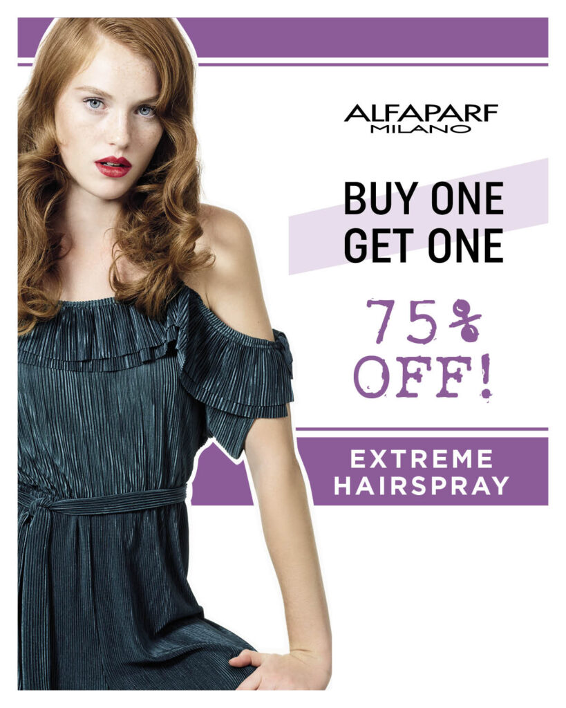 Alfaparf Milano Style Stories – Extreme Hairspray Duo – Print 8×10″