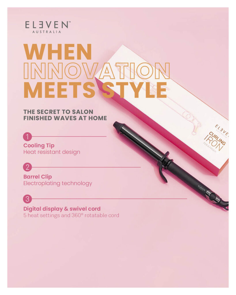 Eleven – NEW Curling Iron: When Innovation Meets Style – Print 8×10″