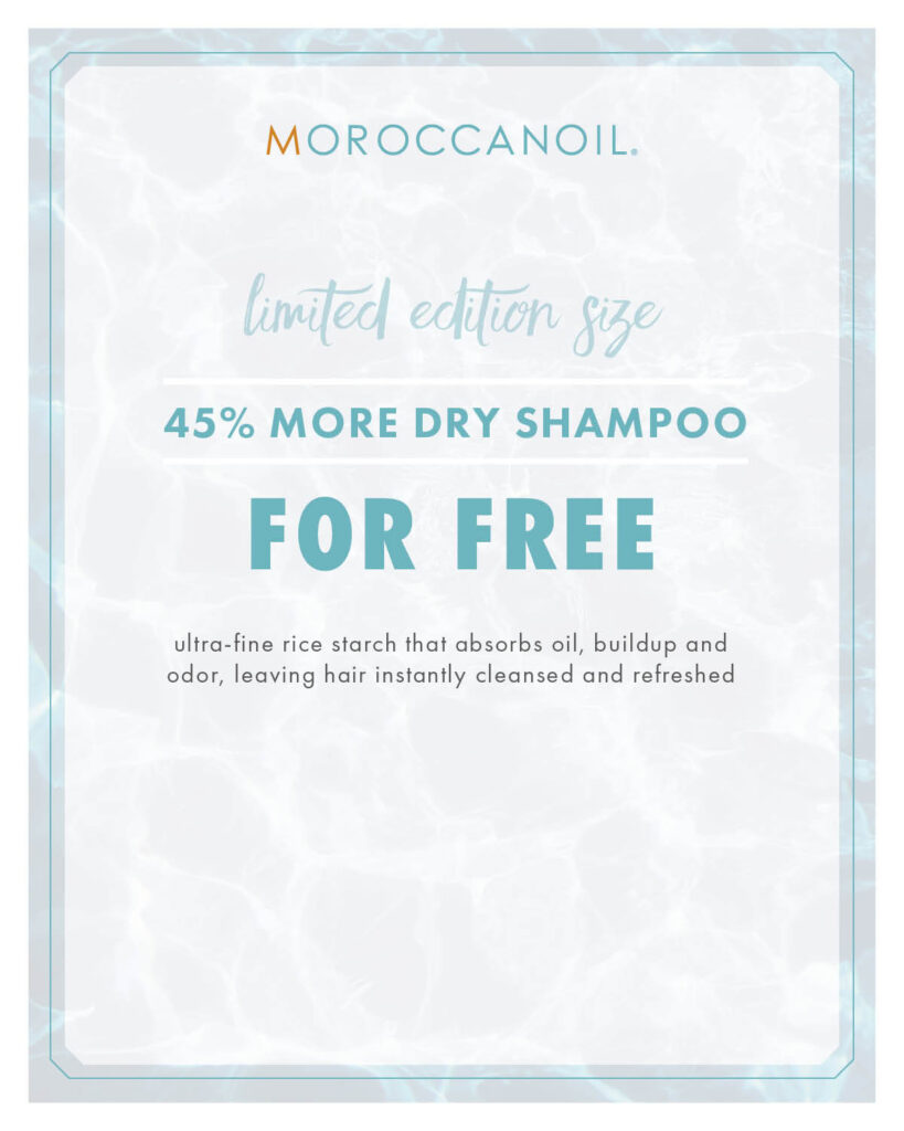 Moroccanoil – Limited Edition Dry Shampoo Size – Print 8×10″