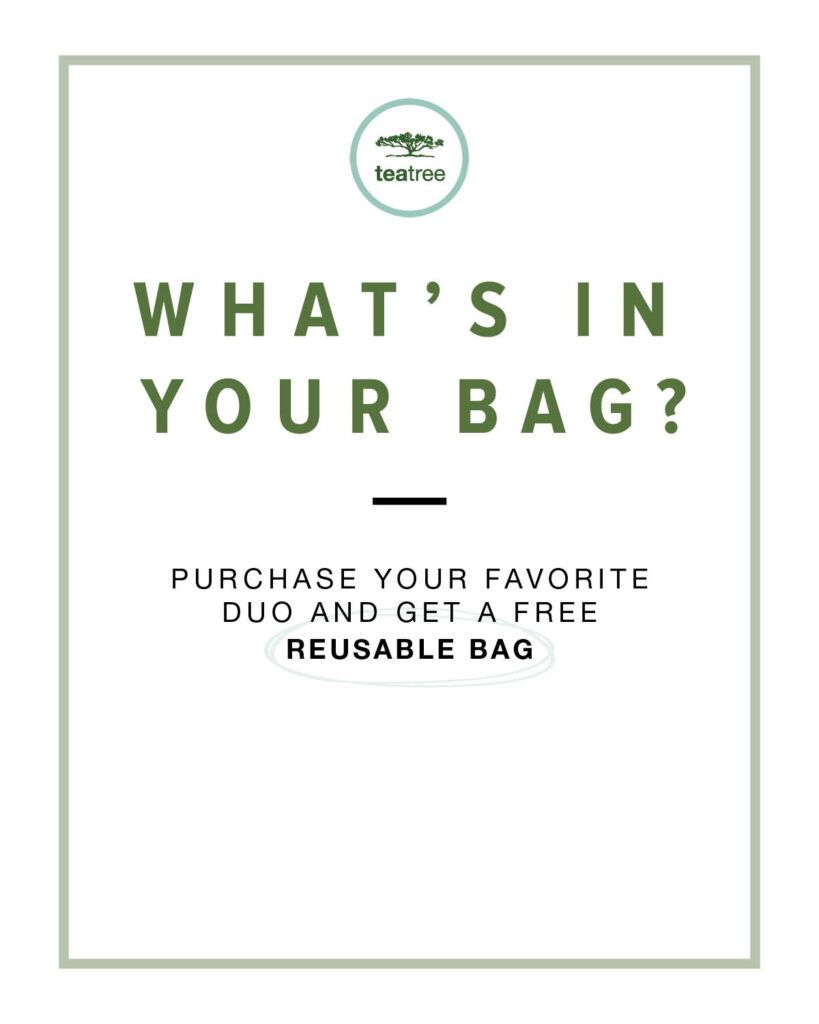 Paul Mitchell Tea Tree – What's In Your Bag? – Print 8×10″