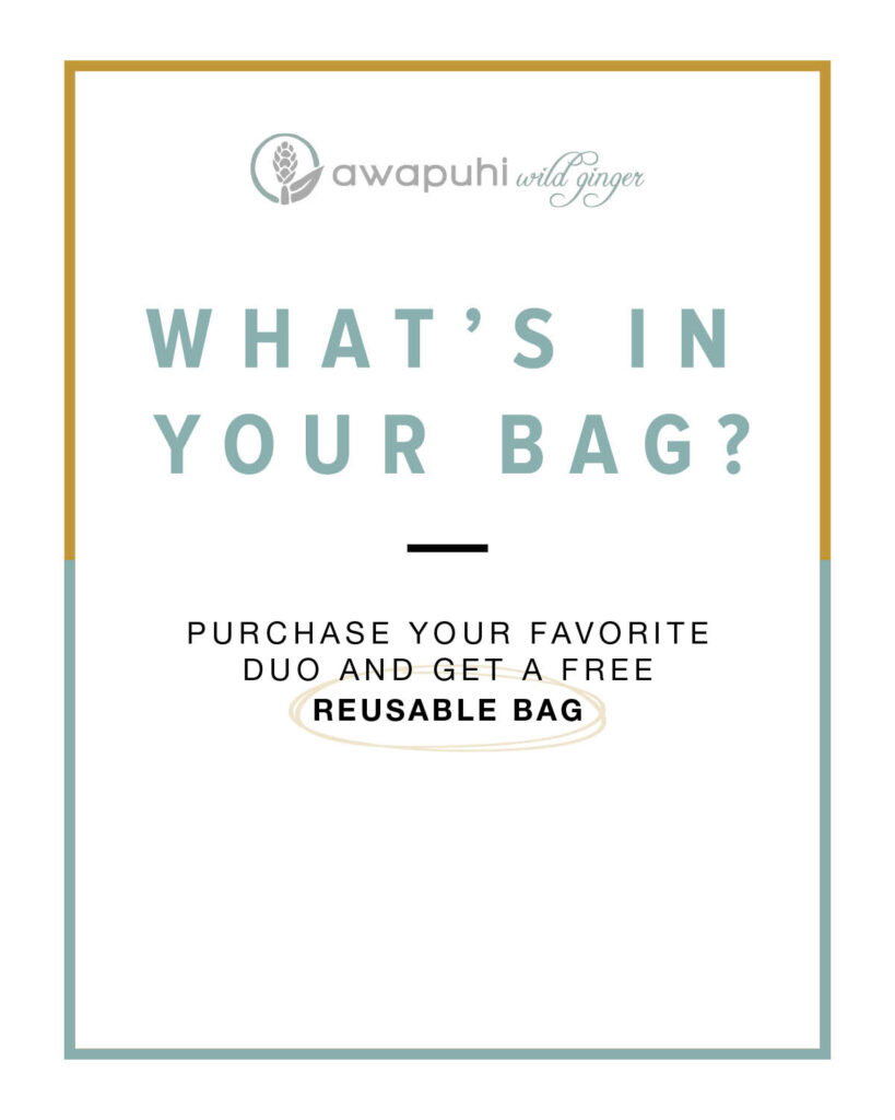 Paul Mitchell Awapuhi Wild Ginger – What's In Your Bag? – Print 8×10″