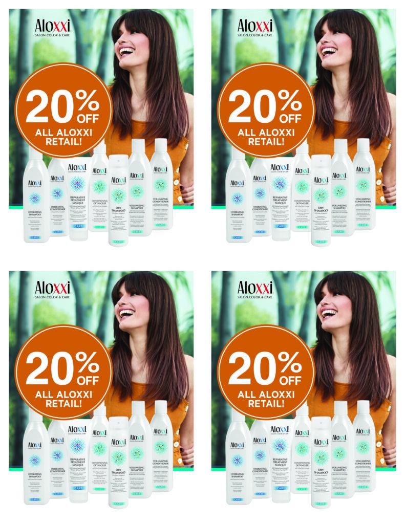 Aloxxi – 20% off Retail – Print 4.25×5.5